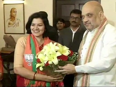Former IAS officer Aparajita Sarangi joined the BJP on Tuesday. ANI