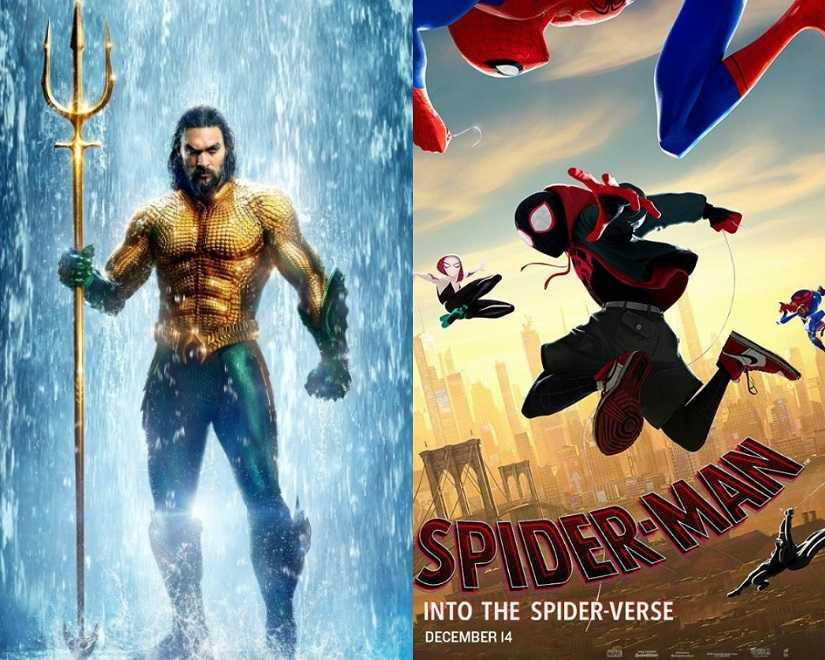 Aquaman and Spider-Man: Into the Spiderverse.