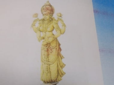 Sketch of Mother Cauvery statue. Twitter/@ANI