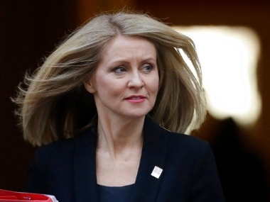 File image of Esther McVey, who resigned as Britain's Secretary of State for Work and Pensions on Thursday. AP