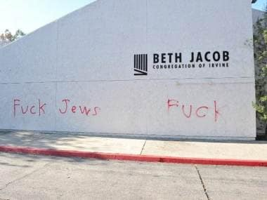 Synagogue in Californias Irvine defaced with anti-Semitic graffiti; police patrolling increased at Jewish facilities across city