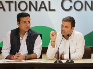 ongress president Rahul Gandhi addressing a press conference in Delhii on Friday. Twitter/@INCIndia