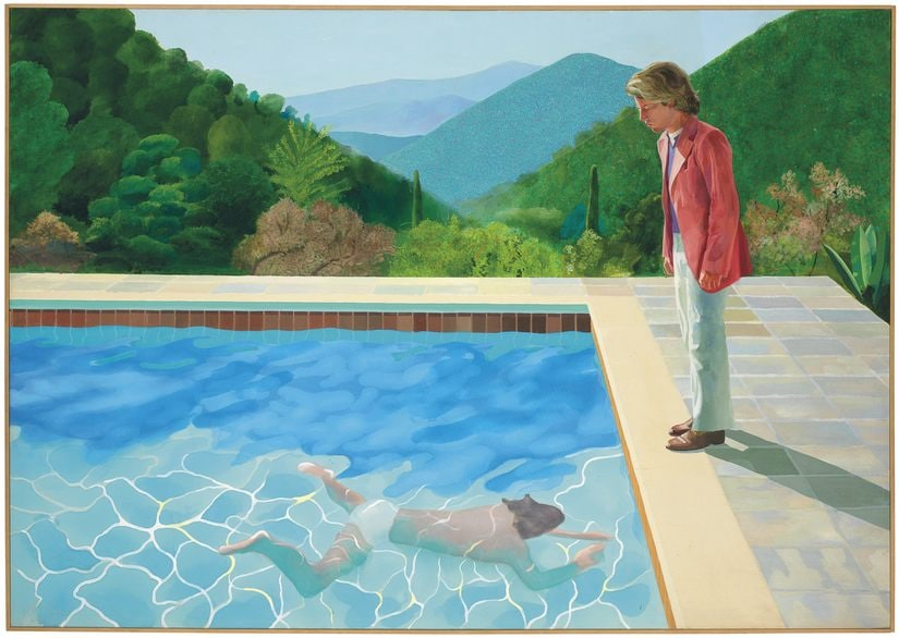 This painting by British artist David Hockney was sold at auction by Christie's in New York for $90.3 million. AP