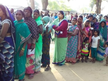 Voters queue up to vote in the second phase of Chhattisgarh Assembly election 2018. 101 Reporters