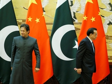 Imran Khan and China's Premier Li Keqiang in Beijing. Reuters