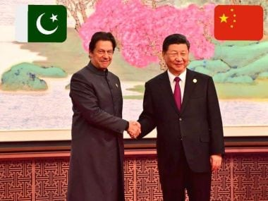 Pakistan prime minister Imran Khan meets with Chinese president Xi Jinping in Beijing. Image/Twitter @ptiofficial