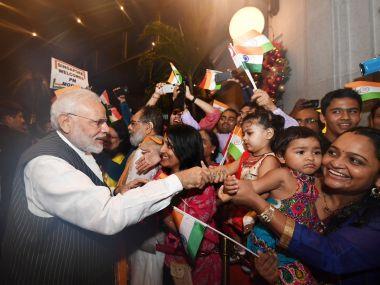 Prime Minister Narendra Modi in Singapore. Image/@narendramodi