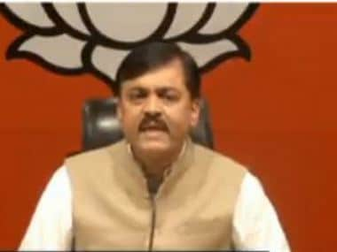 BJP leader GVR Narasimha Rao addressing the press conference. CNN News18