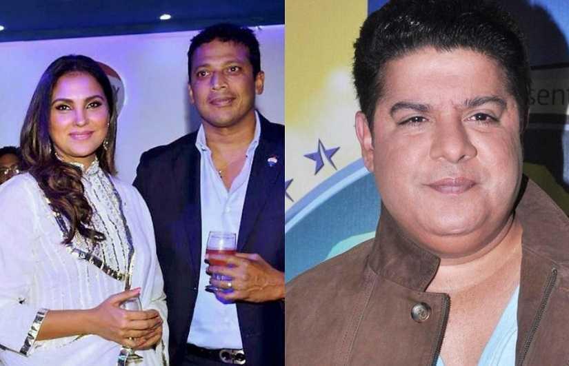 Lara Dutta and Mahesh Bhupathi; Sajid Khan. Images from Twitter