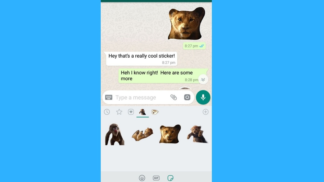 DIY Lion King stickers for WhatsApp. Image: Tech2