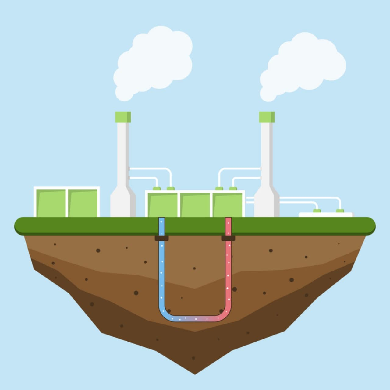 Geothermal plants are a sustainable means of energy production.