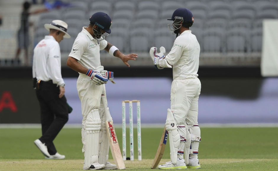 Virat Kohli and Ajinkya Rahane forged an unbroken 90-run stand for the third wicket. AP