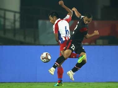 NorthEast United Fc and ATK played out a goalless draw in Guwahati. Twitter@IndSuperLeague
