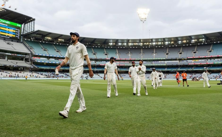 India inched closer to win at the MCG after reducing Australia to 258/8 at the end day four,leaving them only two wickets on the final day to take a 2-1 lead into the final Test. AP