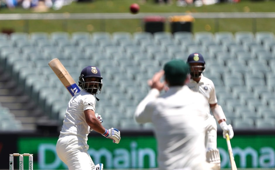 Vice-captain Ajinkya Rahane too fell cheaply after edging one in the slips. AP