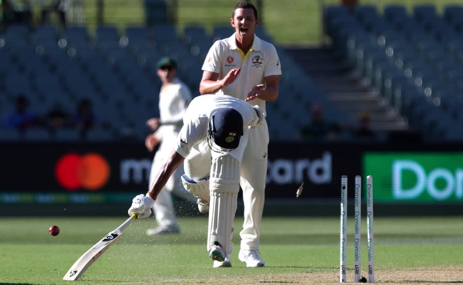 Pujara wasundone by some brilliance in the field from Cummins right at the fag end of the first day. AP