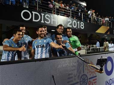 Argentine players taking a picture after their match. Twitter@sports_odisha
