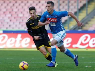 Arkadiusz Milik scored twice as Napoli stormed to a 4-0 win over Frosinone. Reuters