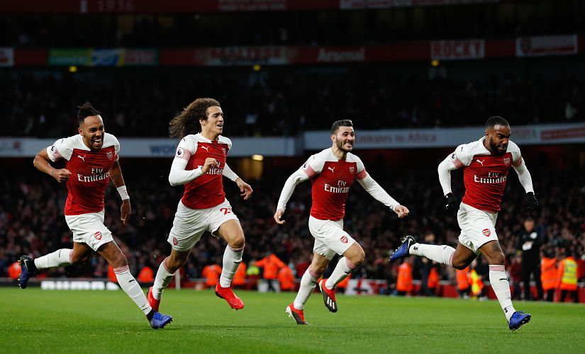 If this north London Derby was any sign, this new chapter at Arsenal under Unai Emery is going to be greatly exciting. (Photo by Adrian DENNIS / AFP) / RESTRICTED TO EDITORIAL USE. No use with unauthorized audio, video, data, fixture lists, club/league logos or 'live' services. Online in-match use limited to 120 images. An additional 40 images may be used in extra time. No video emulation. Social media in-match use limited to 120 images. An additional 40 images may be used in extra time. No use in betting publications, games or single club/league/player publications. /