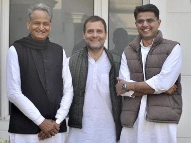 Ashok Gehlot (left) will be sworn in as Rajasthan CM on 17 December. Twitter@RahulGandhi
