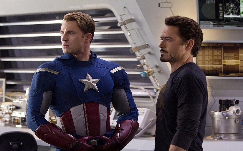 Captain America and Iron Man in Avengers: Age of Ultron. Marvel