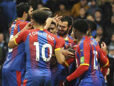 Crystal Palace stunned Manchester City at the Etihad to inflict the first home loss of the season on Pep Guardiola's side. AP
