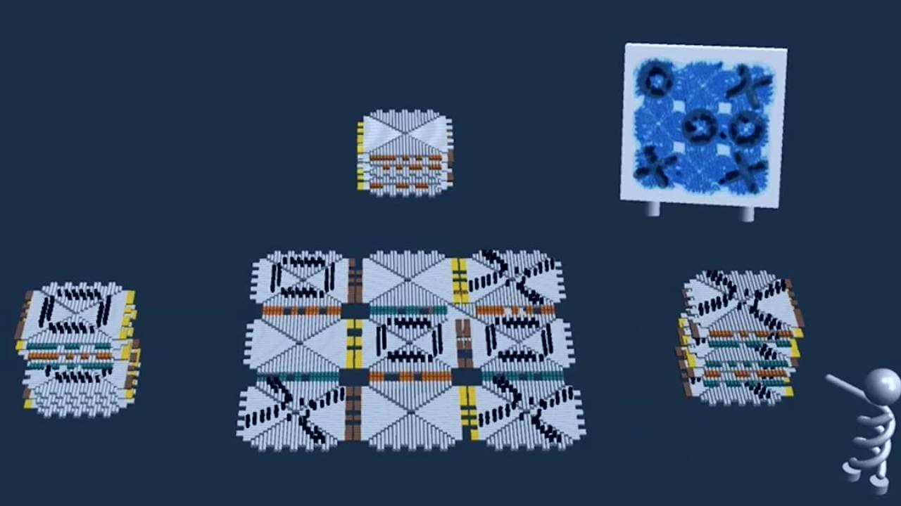 DNA Origami meets tic tac toe at Caltech. Image: Caltech