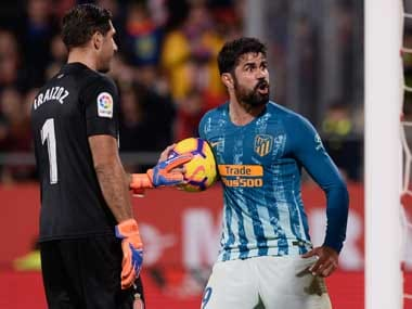 Diego Costa's goal was not enough for Atletico Madrid to collect all three points at Girona. AFP