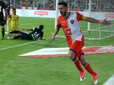 ISL 2018-19: Ferran Corominas bags brace to equal Iain Hume's all time tally as FC Goa thrash NorthEast United