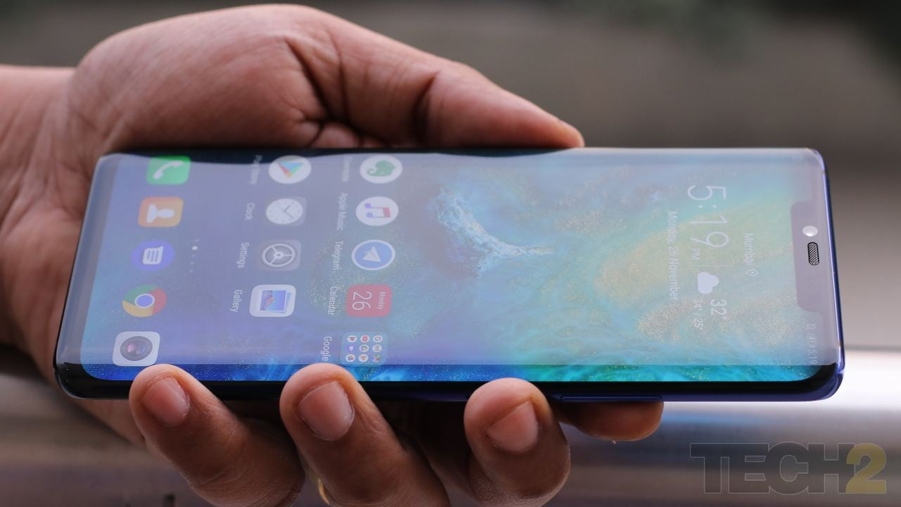 The Huawei Mate 20 Pro. Image: tech2/Omkar Patne