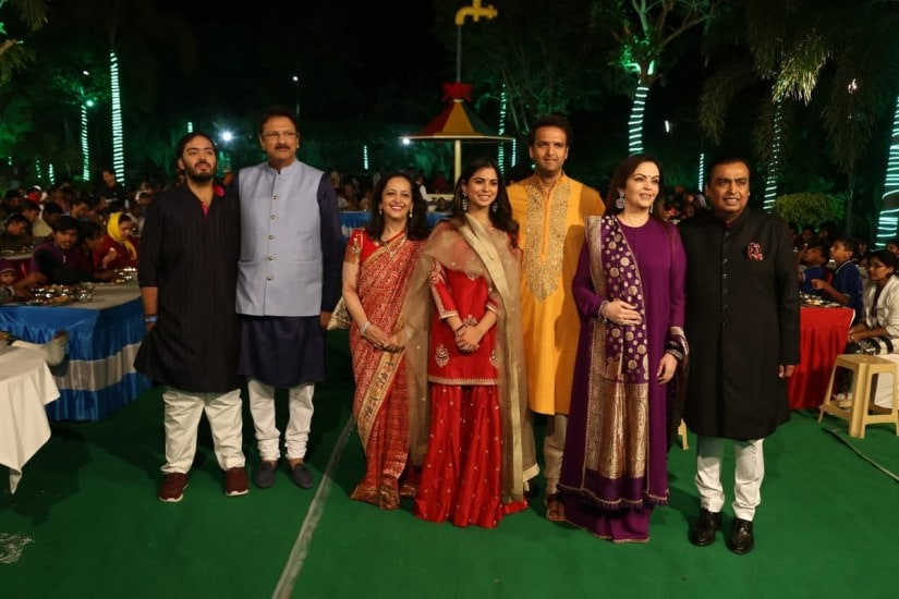 Celebrities arrive at pre-wedding bash for daughter of India's richest man