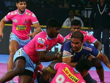 The Jaipur Pink Panthers have had a difficult time finding their feet over the course of this season, but were able to put in an impressive performance against the Tamil Thalaivas. Twitter@JaipurPanthers