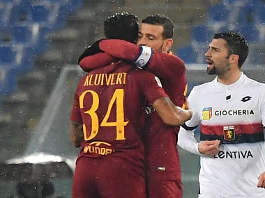 Serie A: Roma egde past Genoa to end five-match winless streak; Arkadiusz Milik's 91st-minute free-kick helps Napoli win