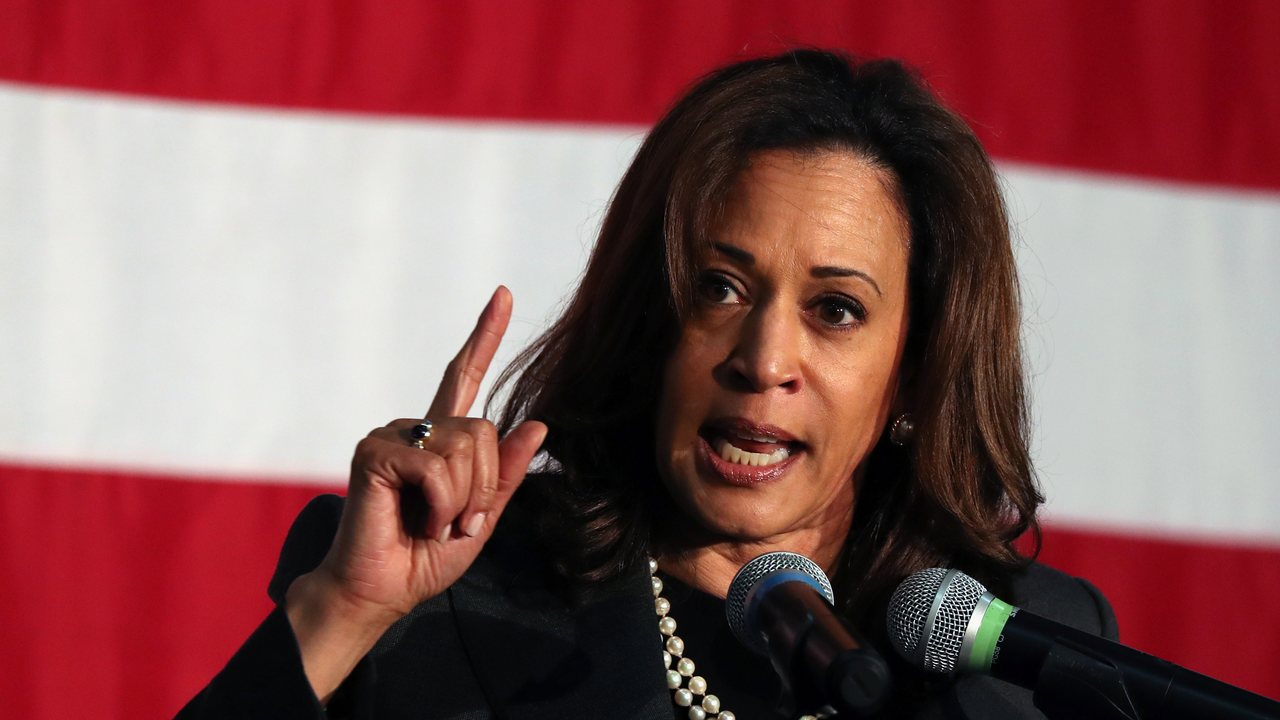 U.S. presidential contender Kamala Harris favors look at breaking up Facebook