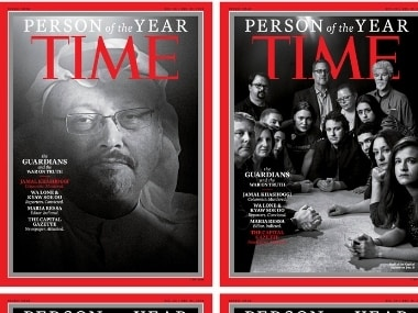 """The covers, which Time called the """"guardians and the war on truth,"""" were selected """"for taking great risks in pursuit of greater truths. AP"""