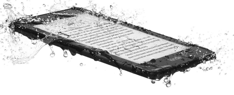 The new Kindle Paperwhite is waterproof. Image: Amazon