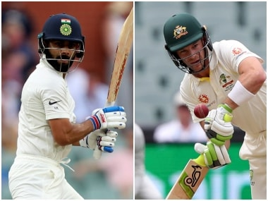 Virat Kohli and Tim Paine, captain of the Indian and Australian teams respectively. AP