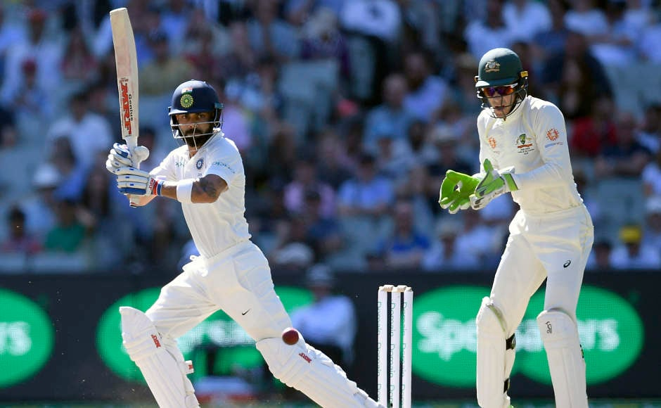 We saw a cautious Virat Kohli in this innings. Kohli scored 82 off 204 balls at a strike rate of 40.20. His innings came toan end courtesy of Mitchell Starc. His 170-runstand with Cheteshwar has put India in acommanding position in this Test. AP