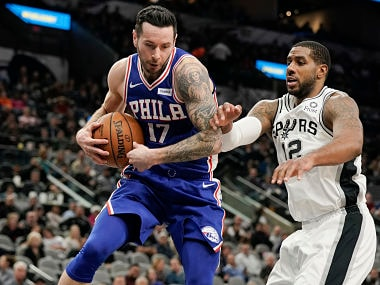 NBA: LaMarcus Aldridge scores double-double as Spurs thrash Sixers; James Harden propels Rockets to victory