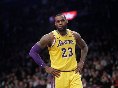 Los Angeles Lakers' LeBron James (23) reacts during the second half of an NBA basketball game against the Brooklyn Nets Tuesday, Dec. 18, 2018, in New York. The Nets won 115-110. (AP Photo/Frank Franklin II)