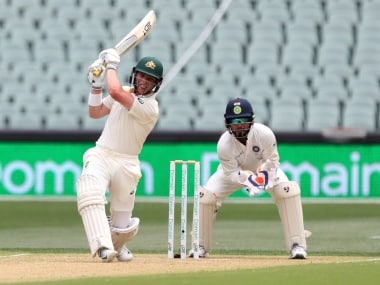 Marcus Harris scored 26 off 57 balls in the first innings for Australia. AP