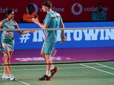 The pair of Mathias Christiansen and Ashwini Ponnappa powered Awadhe Warriors to victory over Pune 7 Aces. Twitter@PBLIndiaLive