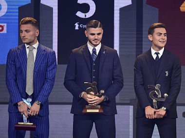 Inter Milans Mauro Icardi wins Serie A Footballer of the Year award; Juventus Massimiliano Allegri voted best coach
