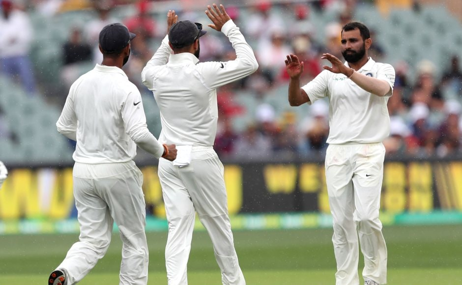 Mohammed Shami removed well set Travis Head in the morning to help India take a 15-run lead in the first innings. AP