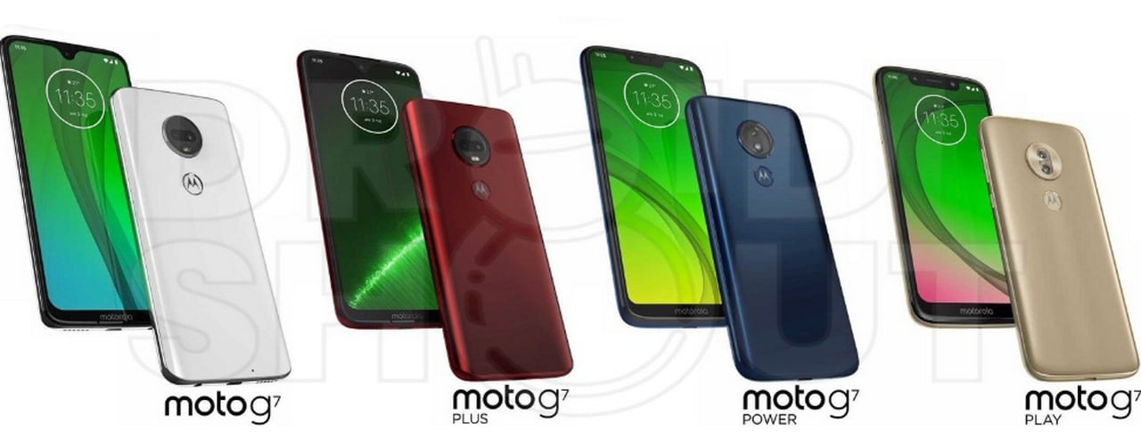 Leaked images of Moto G7 series. Image: Droid