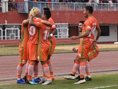 Katsumi Yusa's brace helped Neroca FC to a 2-1 victory over Churchill Brothers. Twitter@ILeagueOfficial