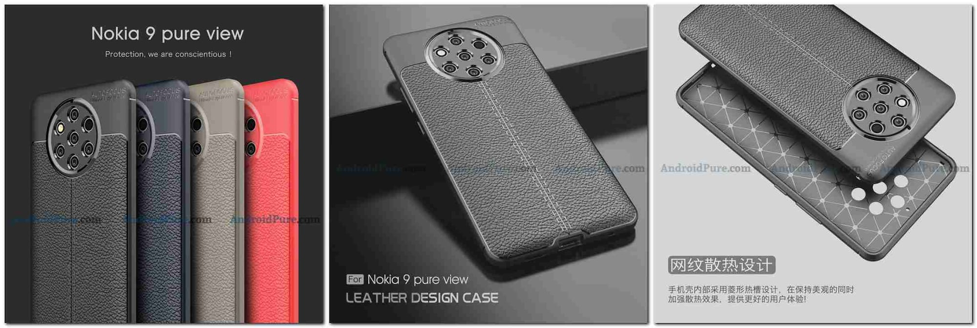 Yet another penta-lens case render leaked for the expected Nokia 9 Pureview