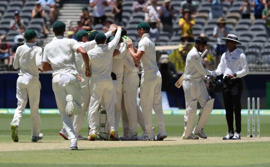 India lasted a little over an hour on the final day as Pat Cummins claimed the final wicket to complete a 146-run win for the home side. AP