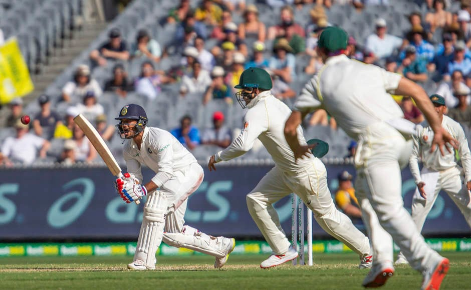 Mayank Agarwal (Left) played another significant knock for India late in the day. As the wickets tumbled by at the other end in second innings, Mayank held his fort at his end. He is currently batting at 28. AP