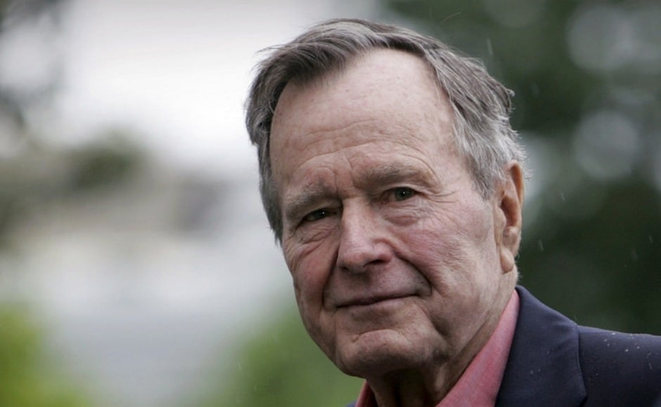George HW Bush, a patrician New Englander whose presidency soared with the coalition victory over Iraq in Kuwait, but then plummeted in the throes of a weak economy that led voters to turn him out of office after a single term, has died aged 94. AP